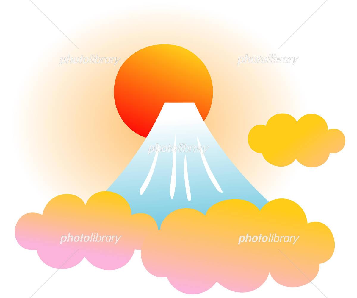 富士山と日の出 イラスト素材 4108331 フォトライブラリー