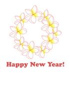 Wheel of Hawaii New Year's card frangipani [4107595] Hawaii