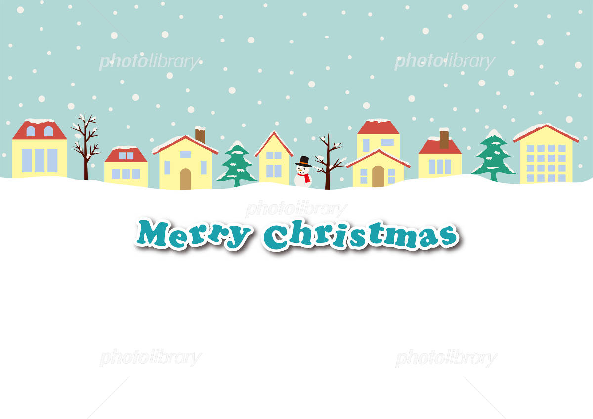 クリスマスの街並みと空 背景素材 イラスト素材 4775839 フォト