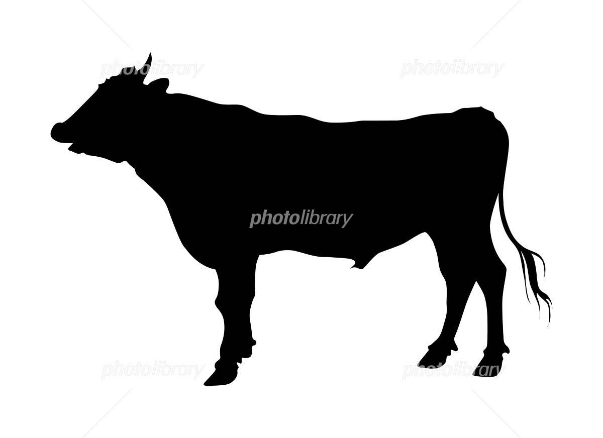 牛のシルエットのイラスト イラスト素材 [ 4784288 ] , フォト