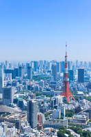 Tokyo blue sky and urban landscape Stock photo [4785233] Tokyo