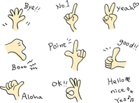Freehand hand icon set [4864126] hand