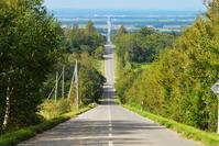 Road that leads to the Shiretoko Shari heaven Stock photo [4864674] Hokkaido