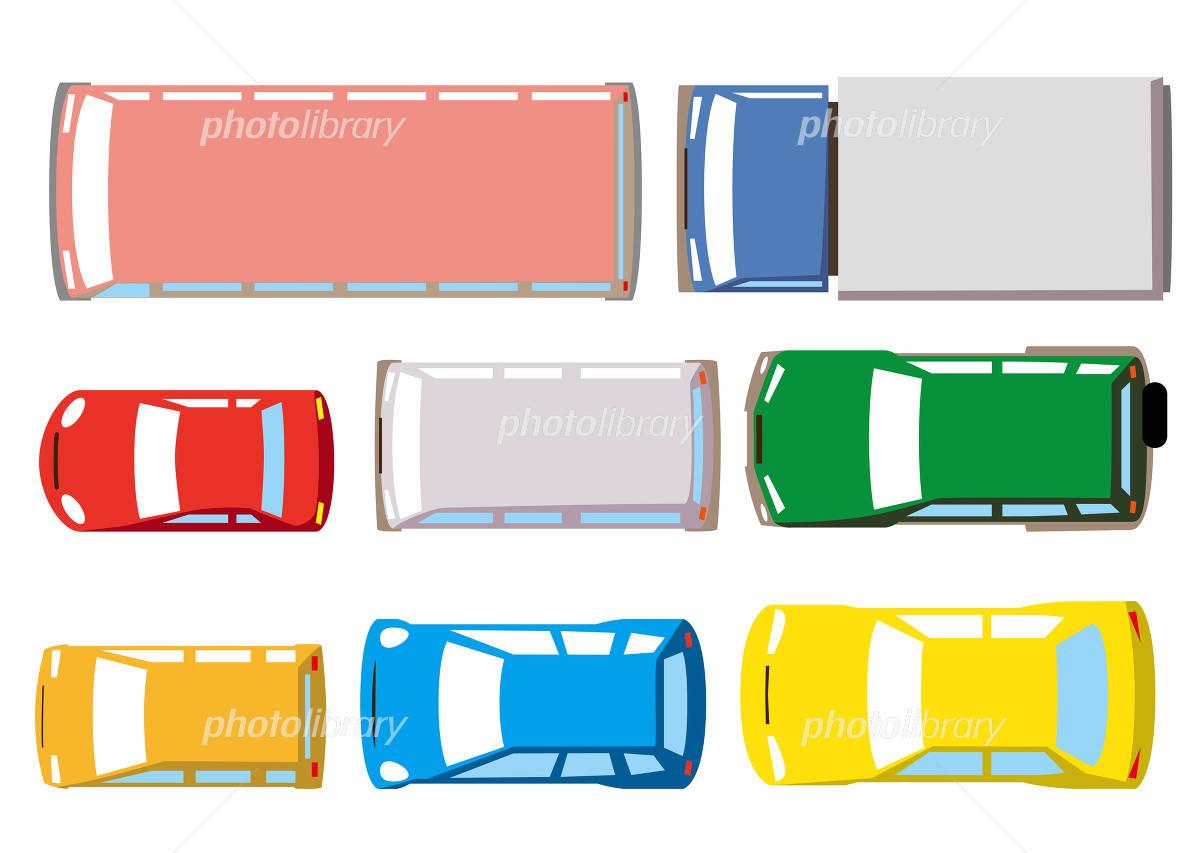 上から見た自動車 イラスト素材 4974253 フォトライブラリー