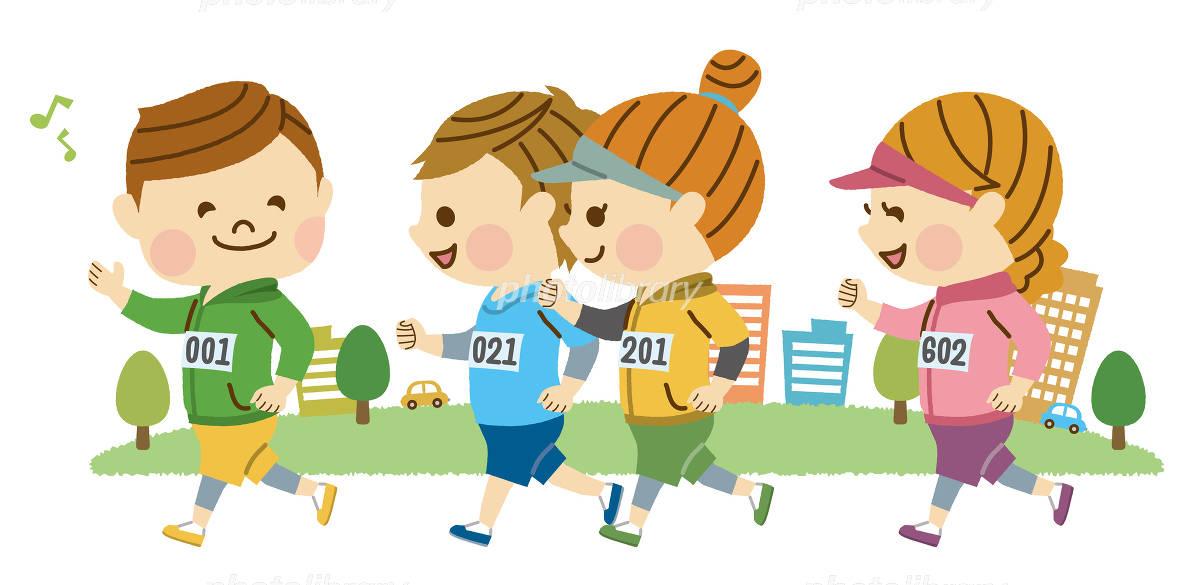 マラソンする男女 イラスト素材 4976898 フォトライブラリー