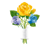 It rose bouquet / yellow, blue, and father of daily [4983115] message
