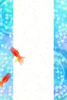 Summer greeting card [4984566] Goldfish