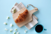 Croissant coffee sweet pea Stock photo [5070023] Father's