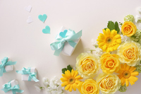 Yellow rose, gerbera, gift Stock photo [5070041] Father's