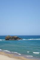 Tottori prefecture Hakurei coast 淤 岐 之 島 Stock photo [5075008] White
