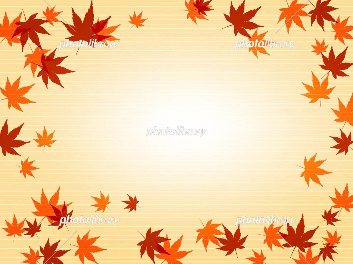 紅葉 和の背景 和風 和柄 イラスト素材 [ 5159122 ] - フォトライブ