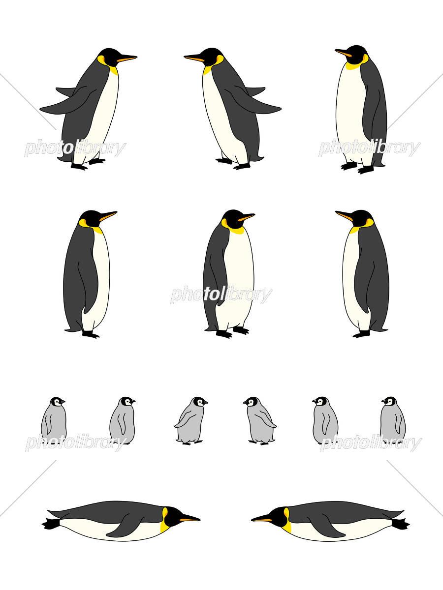 ペンギン イラスト セット イラスト素材 5159819 フォトライブ