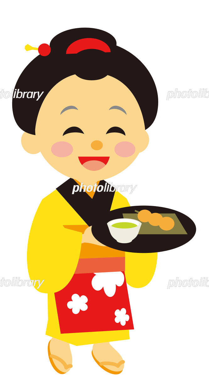 江戸時代 時代劇 茶屋の娘 イラスト素材 5258185 フォトライブ