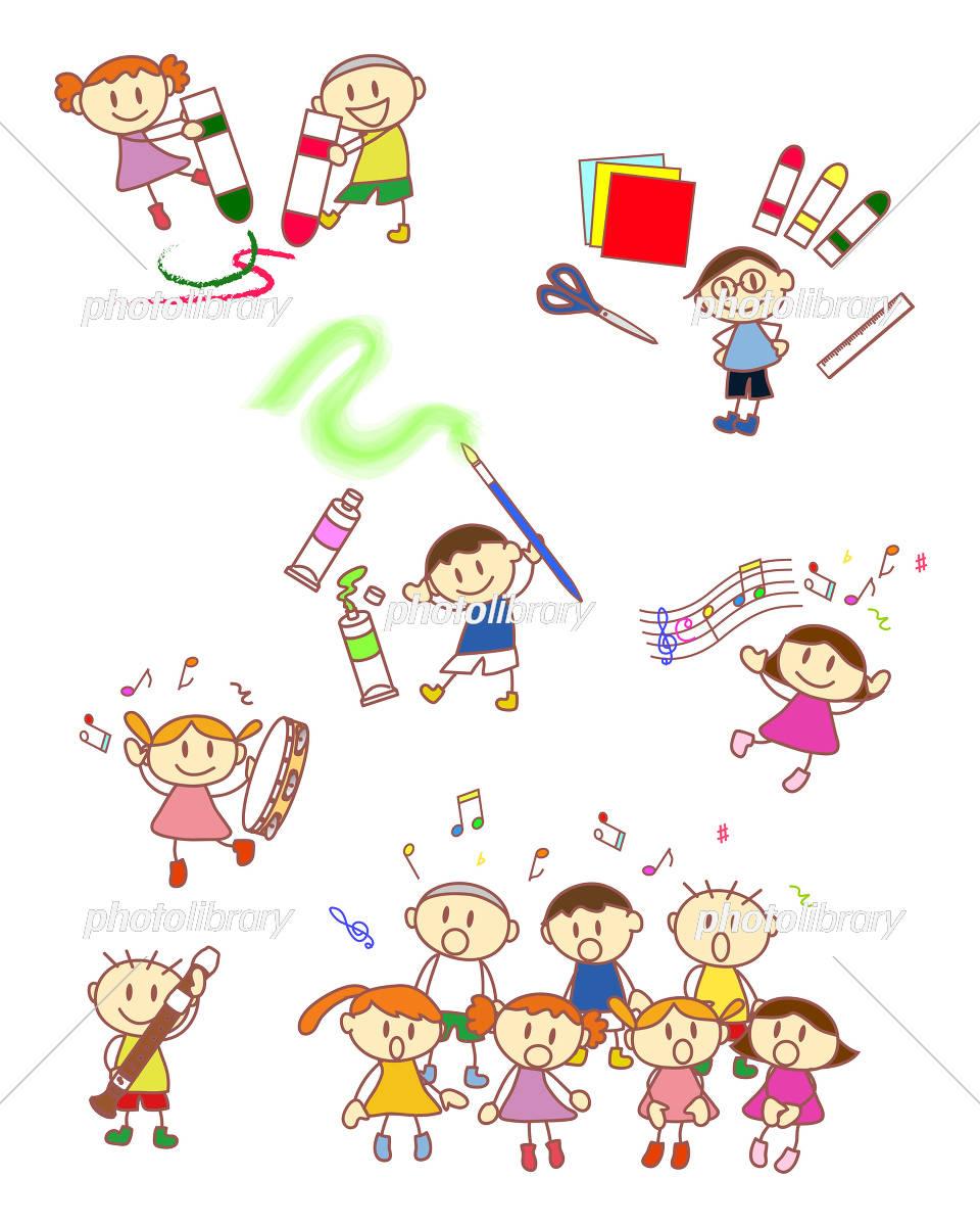 小学生 図画工作 音楽 イラスト素材 5259828 フォトライブラリー
