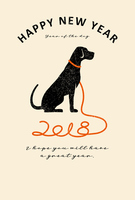 2018 New Year's cards vertical [5254615] 0