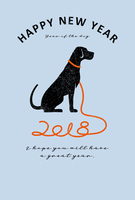 2018 New Year's cards vertical [5254617] 0