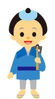 イラスト Edo era era drama men stuck with mulberry(5258153)
