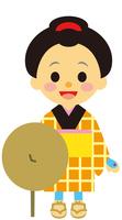 イラスト A woman in the Edo period era journey(5258156)