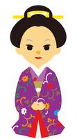 イラスト Edo period era play samurai woman(5258159)