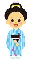 イラスト Edo era era warrior female lumbar(5258160)