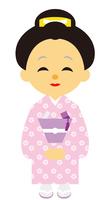 イラスト Edo period era play samurai woman(5258161)