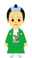 イラスト Male warrior of the Edo era era play samurai(5258162)