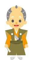 イラスト Old man of the Edo period era play samurai(5258165)