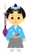 イラスト Edo period era drama samurai man's family name(5258168)