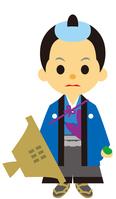 イラスト Male journey of Edo period era play samurai(5258170)