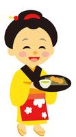 イラスト The daughter of the Edo period era play teahouse(5258185)