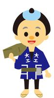 イラスト Edo period era drama carpenter(5258198)