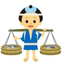 イラスト Edo period era play fish selling(5258202)