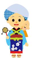 イラスト Edo era era drama Housewife babysitter(5258204)