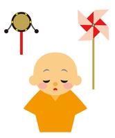 イラスト Edo Period drama babies and toys(5258207)