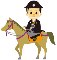 イラスト The power to ride in the Edo period era play horse(5258229)