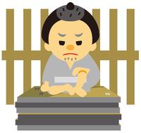 イラスト Edo period era play funeral(5258234)
