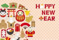 イラスト Lucky card icon New Year card template(5258508)