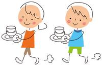 イラスト Children carrying dishes(5258513)