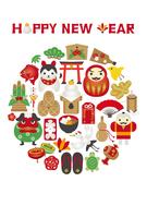 イラスト Lucky card icon New Year card template(5258514)