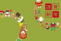 イラスト Lucky card icon New Year card template(5258525)