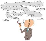 イラスト A businessman smoking a cigarette(5258527)