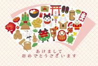 イラスト Lucky card icon New Year card template(5258542)