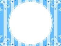 イラスト Lace snow crystal frame(5259640)