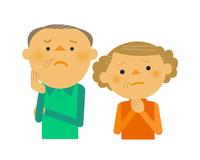 イラスト Senior couple troubling(5259658)