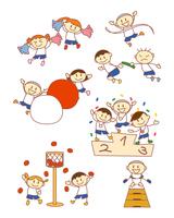 イラスト Elementary school sports festival(5259832)