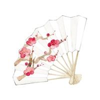 イラスト Folding fan, plum(5260117)