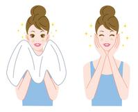 イラスト Facial cleansing towel(5260202)