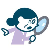 イラスト Senior woman looking into the magnifying glass(5260413)