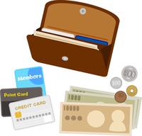 イラスト Open wallet and cash with card(5261029)
