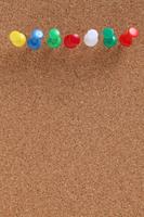 写真 Colorful push pin on corkboard(5261507)